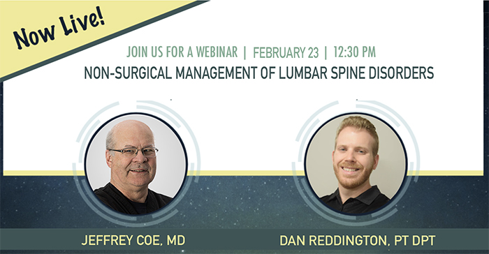Non surgical management lumbar spine disorder